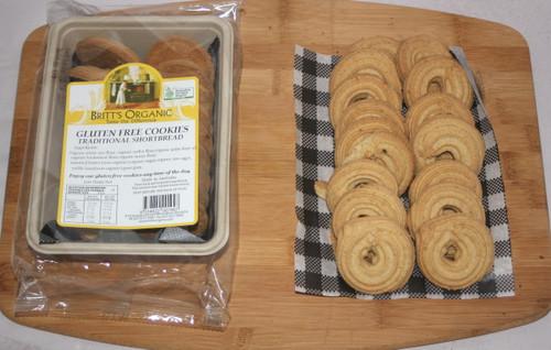 Vanilla Shortbread GLUTEN FREE Cookies Organic 200g - Britts Organic
