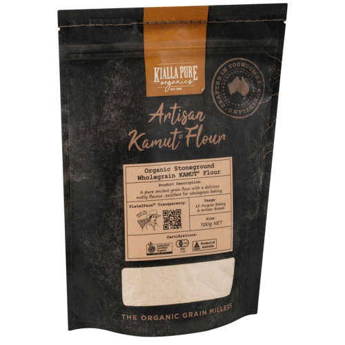 Stoneground Wholegrain Kamut Flour Organic 700g - Kialla Pure Organic