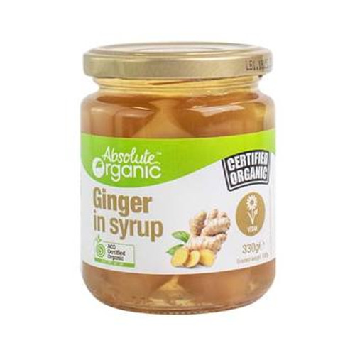 Ginger In Syrup Organic 330g - Absolute Organic