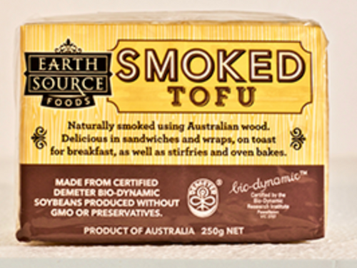Tofu Smoked Organic 250g - Earth Source *pre-order to ensure supply