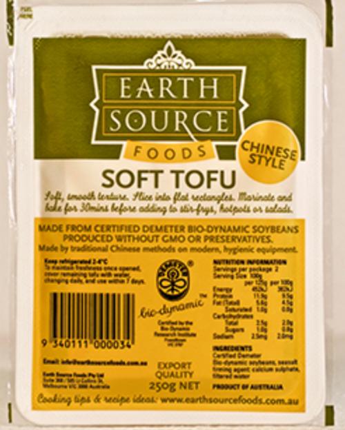 Tofu Soft Organic 250g - Earth Source *pre-order to ensure supply