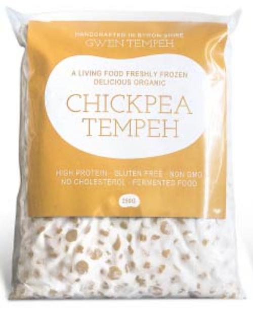 Tempeh Chickpea (Frozen) 250g - Gwen Tempeh