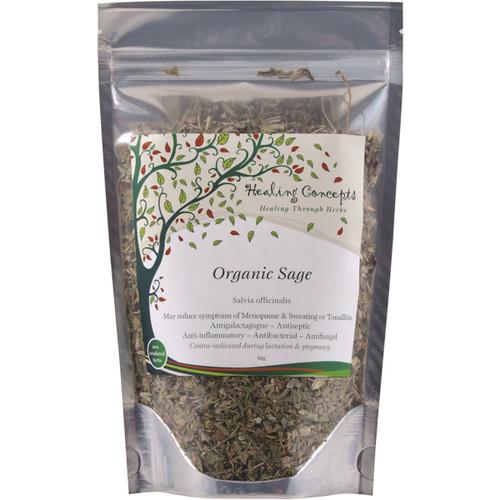 Sage Tea Leaf Organic 50g - Healing Concepts