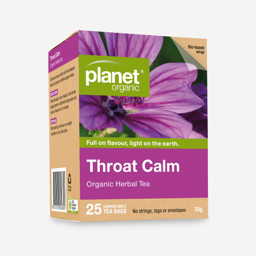 Throat Calm Tea 25 Bags - Planet Organic