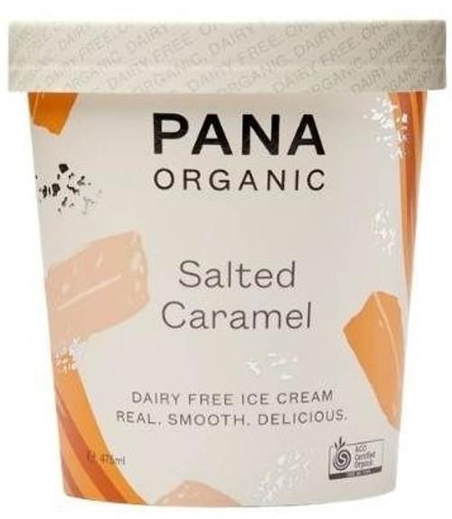 Dairy Free Ice Cream TUB Salted Caramel Organic 475ml - Pana