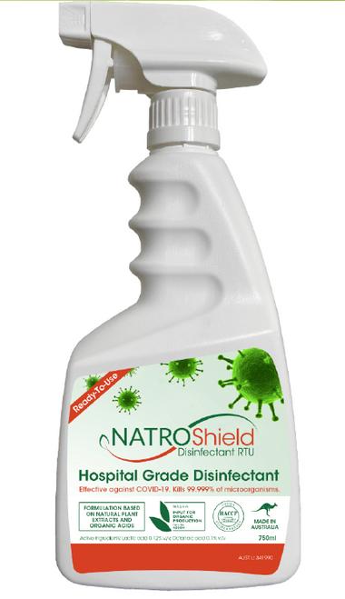 Natroshield Disinfectant Hospital Grade Organic 750ml - Natroshield