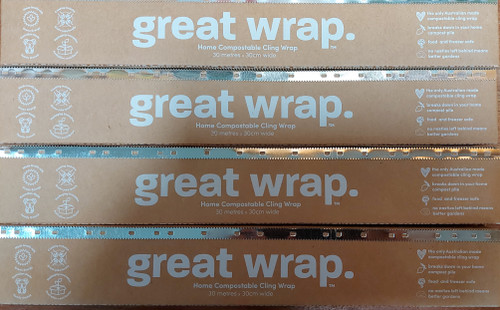 Great Wrap Home Compostable Cling Wrap 30m- Great Wrap