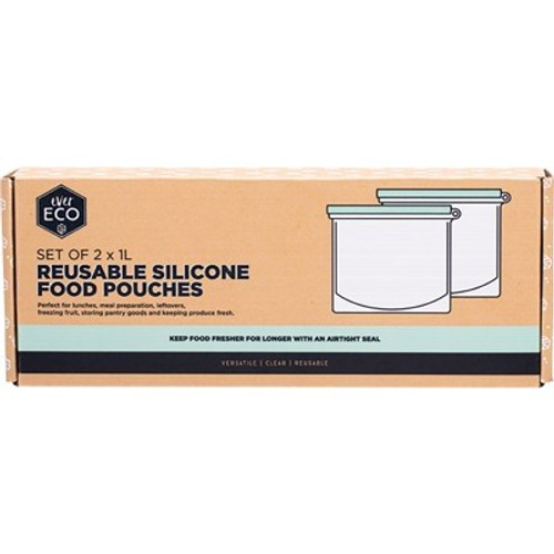 Food Pouch Silicone Reusable 1L x 2 - Ever Eco