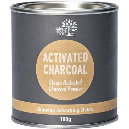 Activated Charcoal Powder Steam Activated 100g - Eden Healthfoods