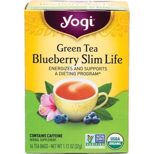 Green Tea Blueberry Slim Life Organic 16 Bags - Yogi Tea