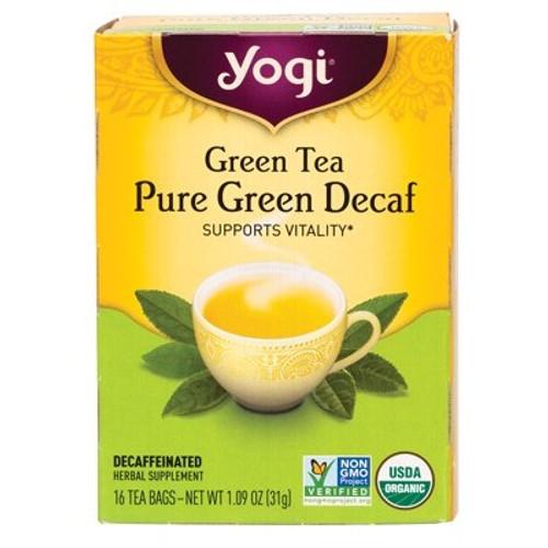 Pure Green Decaf Organic 16 Bags - Yogi Tea