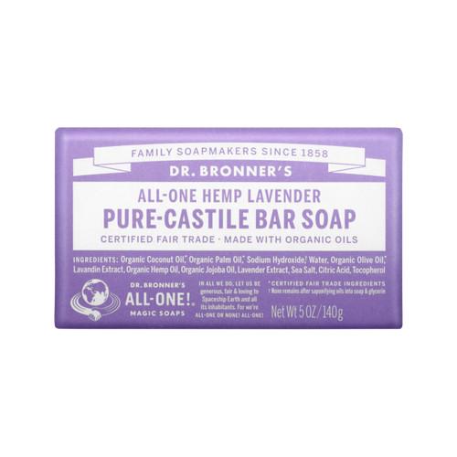 Lavender Castile Hemp Soap Bar 140g - Dr Bronner