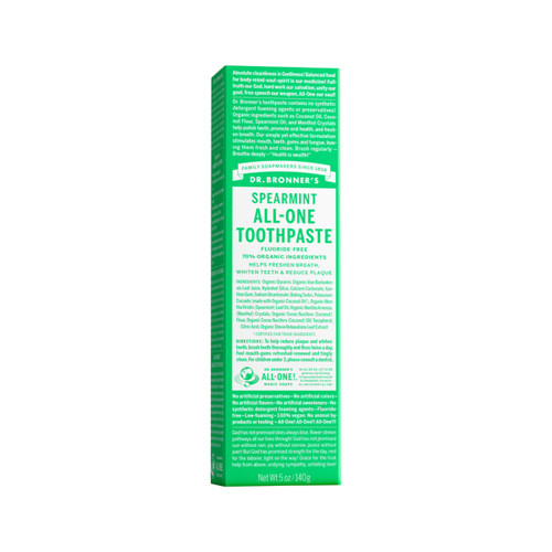 Toothpaste Spearmint 140g - Dr Bronners