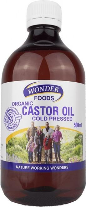 Castor Oil Organic 500ml - Wonderfoods