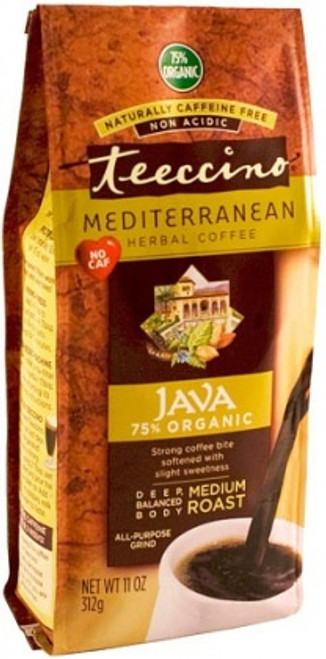Java Medium Roast Chicory Herbal Coffee Organic 312g All purpose Grind - Teeccino