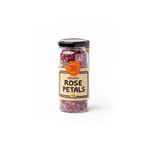 Rose Petals Organic 15g Jar - Mindful Foods