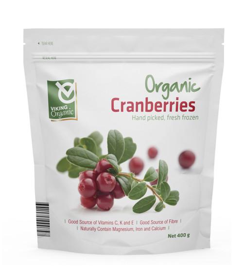 Cranberries Frozen Organic 400g - Viking