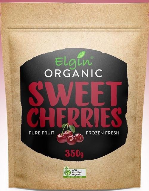 Sweet Cherries Frozen Organic 350g - Elgin