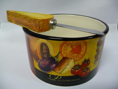 Tuscan Theme Dip Bowl And Spreader Set