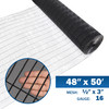 16 Gauge Black Vinyl Coated Welded Wire Mesh Size 0.5 inch by 3 inch (4 ft. x 50 ft.)