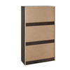 3 Tier Drawer Modern Convenient Shoe Storage Cabinet Organizer in Oak/White Finish