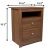 Classic Multipurpose Wood Night Stand, End Table, Accent Table with 2-drawer (Walnut)