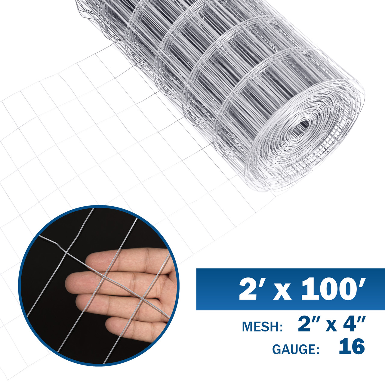 Fencer Wire 16 Gauge Galvanized Welded Wire Mesh Size 2 Inch By 4 Inch 2 Ft X 100 Ft Fencerwire