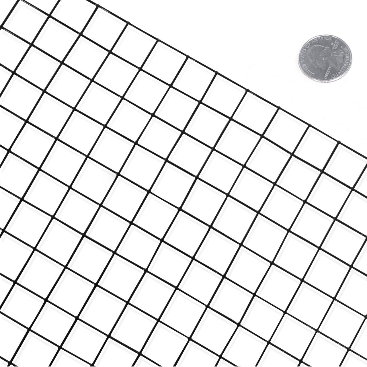 16 Gauge Black Vinyl Coated Welded Wire Mesh Size 1 Inch
