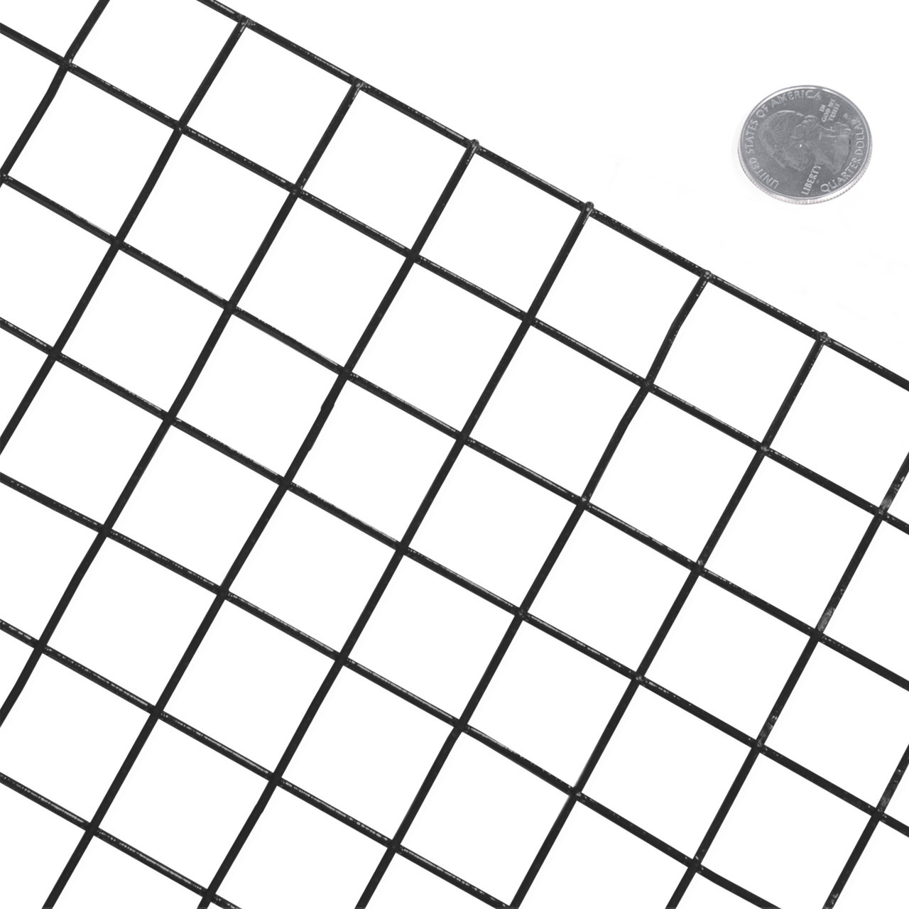 14 Gauge Black Vinyl Coated Welded Wire Mesh Size 1 Inch By 1 Inch Fencerwire