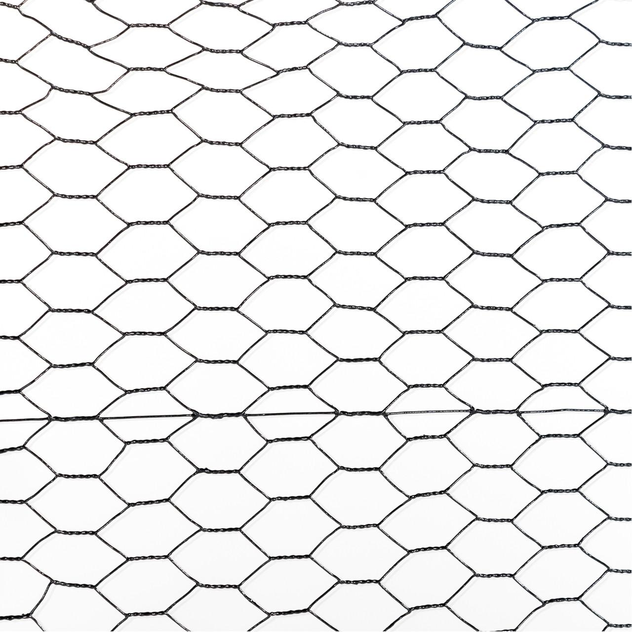 20 gauge black vinyl coated poultry hex netting with 1 inch mesh Small Gauge Yarn 20 gauge black vinyl coated poultry hex netting with 1 inch mesh