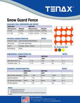 Sno-Guard Fence 4 Tall