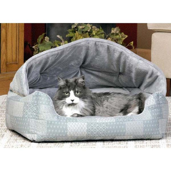 "Pet Products Lounge Sleeper Hooded w/ Patchwork 20"" x 25"" x 13"""
