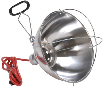 Heat Lamp Reflector-Gaurd & Clamp
