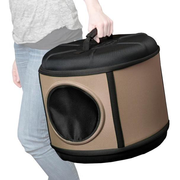 "K&H Pet Products Mod Capsule Gray/Black 17"" x 17"" x 15.5"""