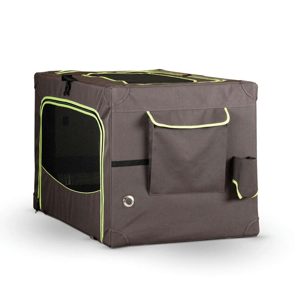 """CLASSY GO SOFT CRATE X-LARGE BROWN/LIME GREEN 28"""" x 42"""""""