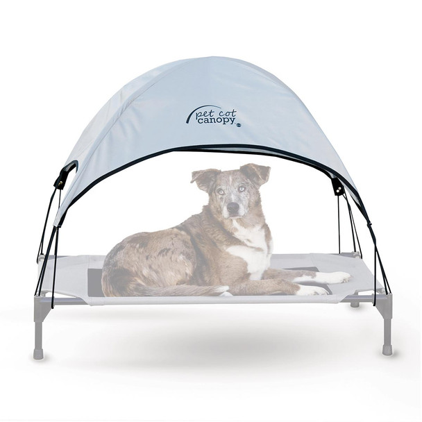 "K&H Pet Products Pet Cot Canopy Large Gray 30"" x 42"" x 28"""