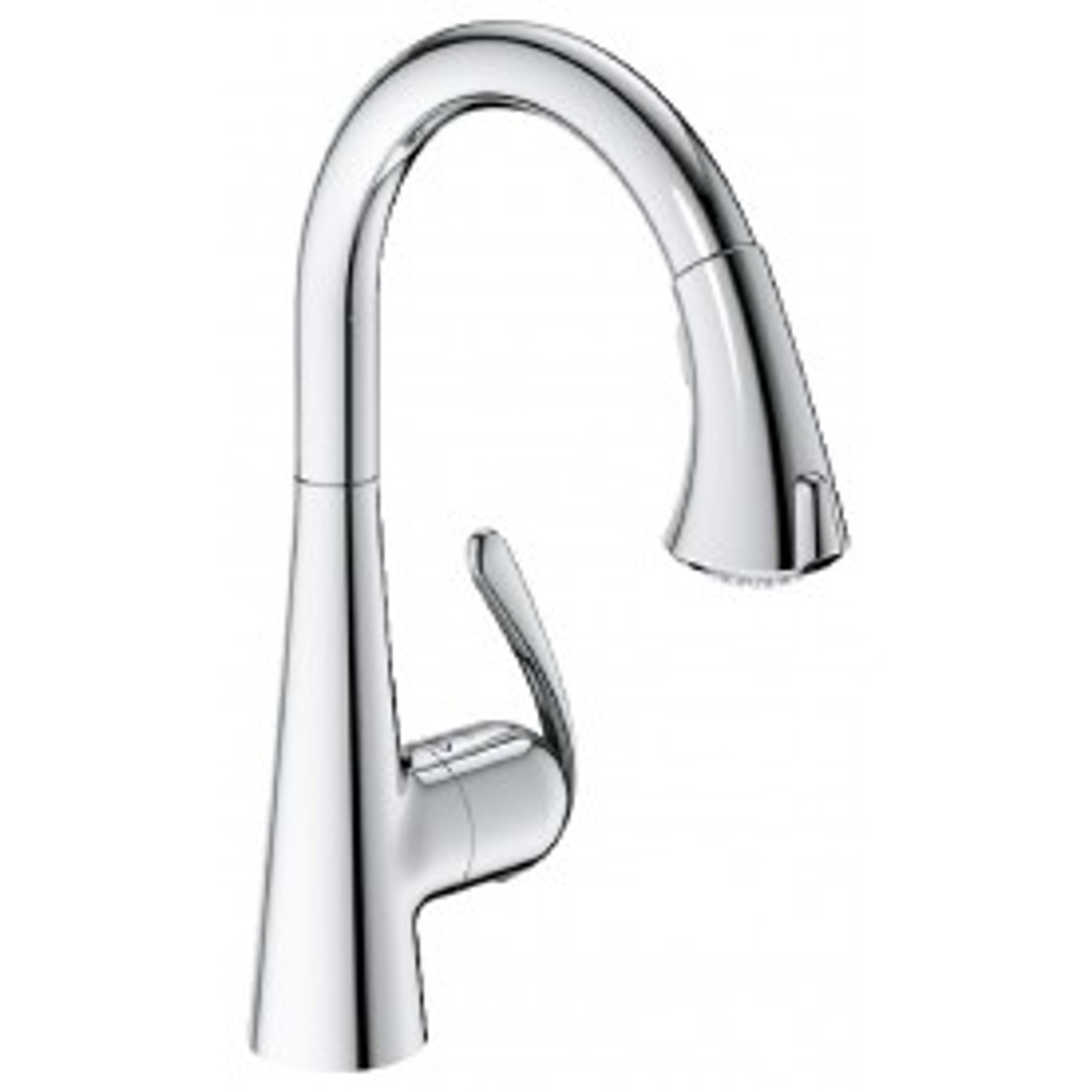 Grohe 32298001 Ladylux3 Cafe Locking Dual Spray Kitchen Faucet With Pull Down Spout In Chrome Royal Bath Place