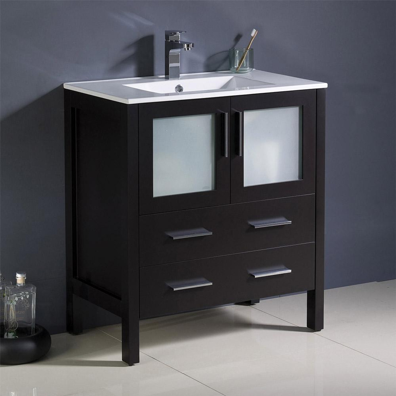 Bello 30 Inch Solid Wood Espresso Bathroom Vanity 50 Off Royal Bath Place