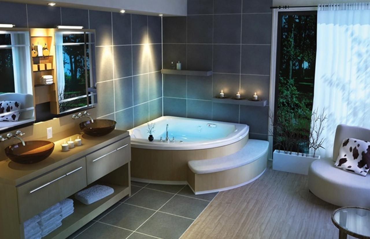 Maax Release Corner Tub Jacuzzi Whirlpool Royal Bath Place
