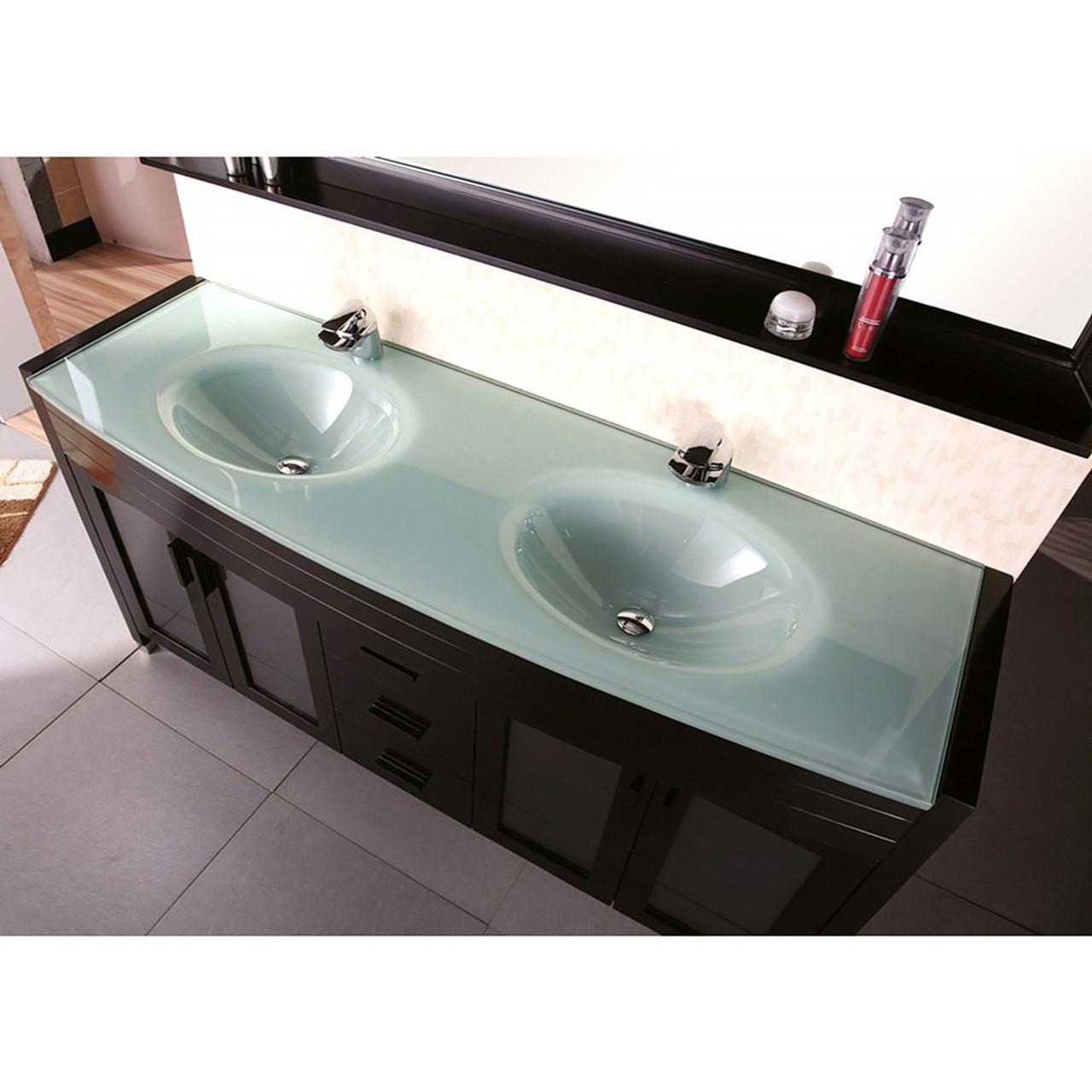 Juno 60 Espresso Double Sink Bathroom Vanity Royal Bath Place