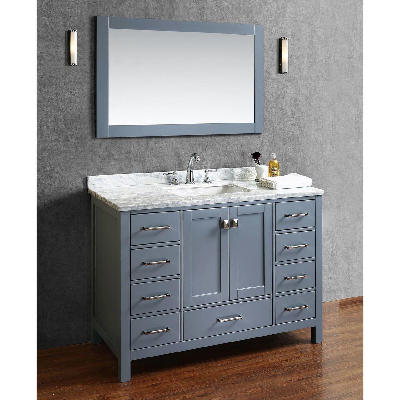 Royal Key West Collection 48 Inch Gray Bathroom Vanity