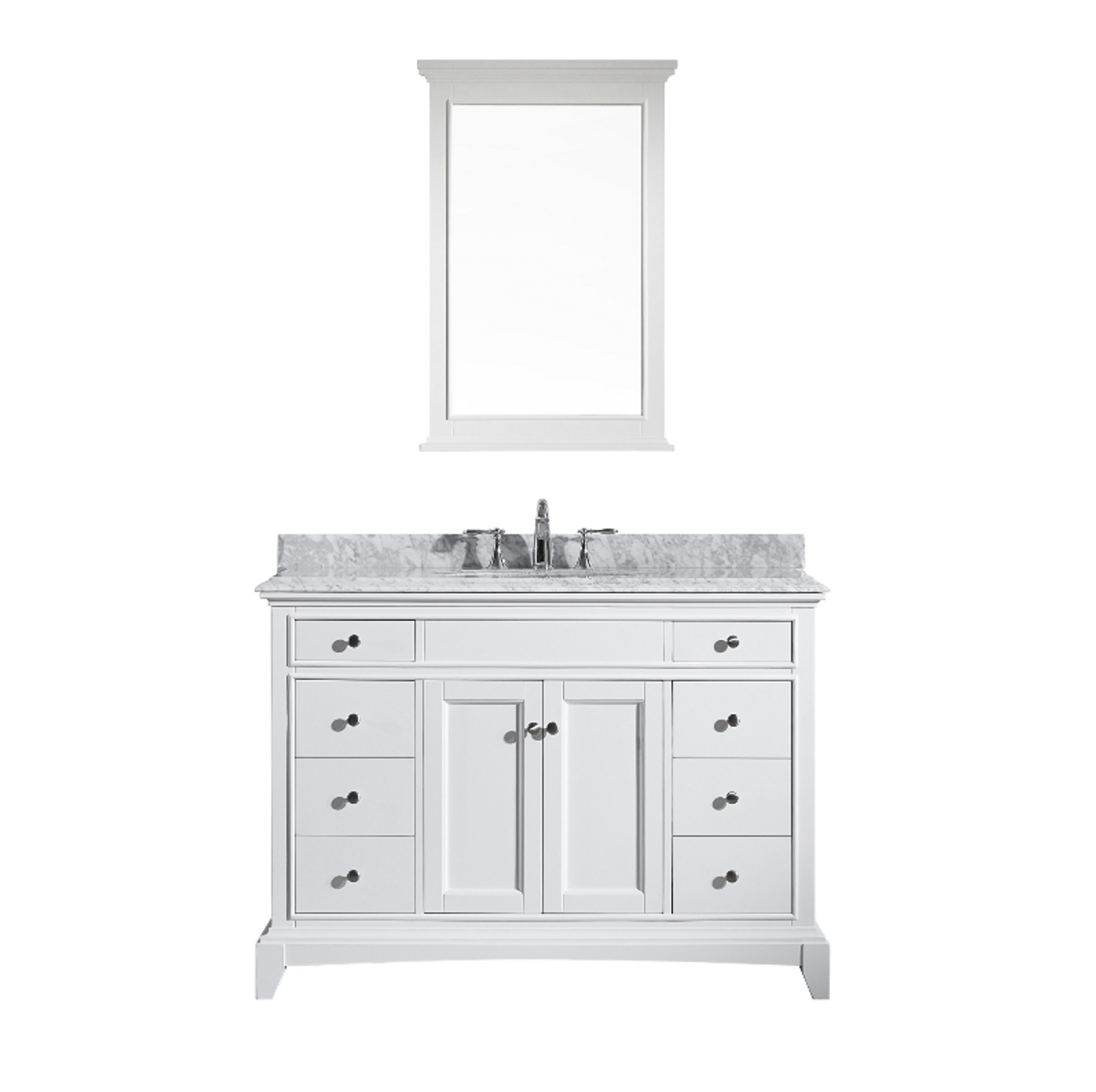 Royal Boca 48 Inch White Bathroom Vanity