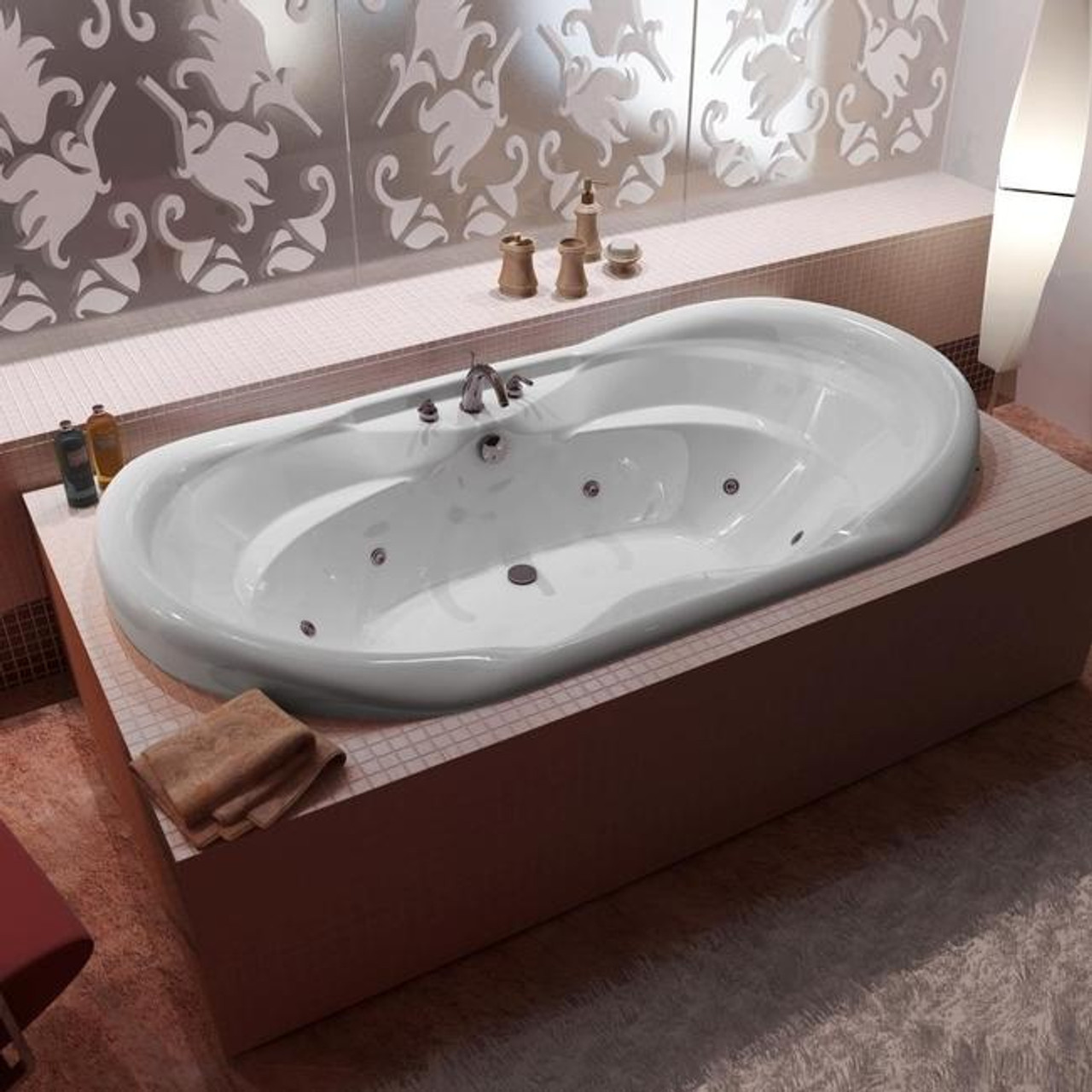 Picture of: Indulgence Acrylic Drop In Corner Tub Soaker Royal Bath Place