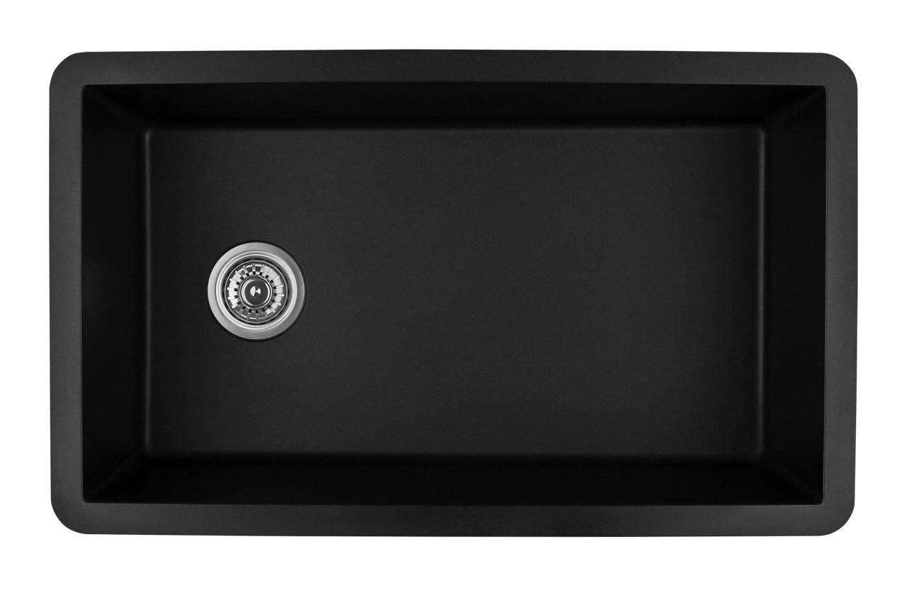 Karran Extra Large Single Bowl Undermount Kitchen Sink Black Finish 31 5 8 X 19 1 8 Royal Bath Place