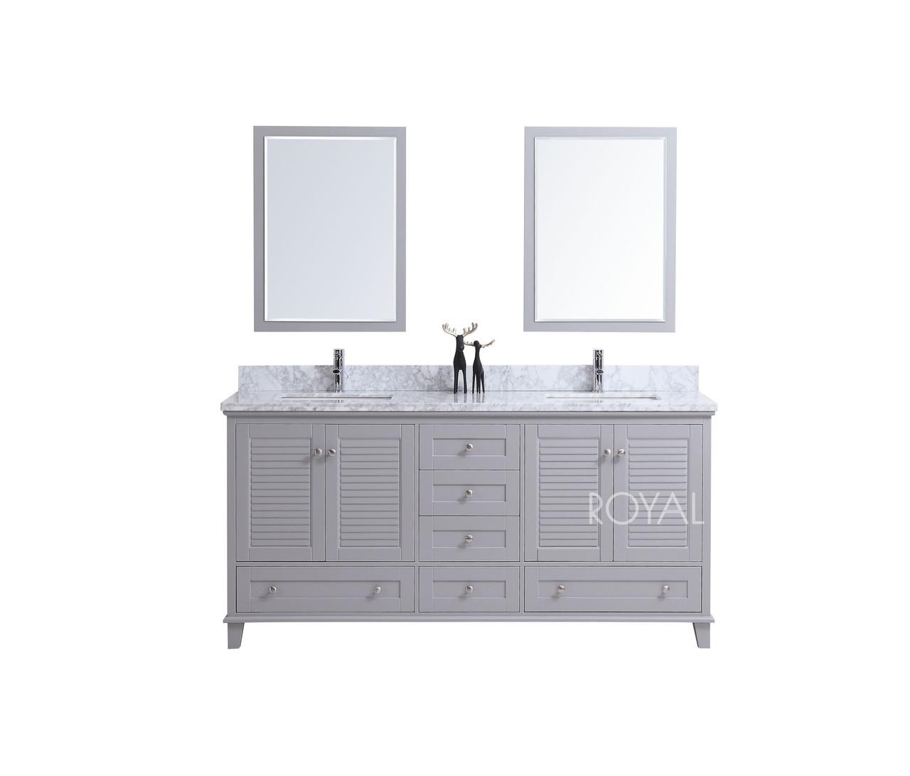 Keyes 72 Inch Gray Double Sink Bathroom Vanity Top Included Royal Bath Place