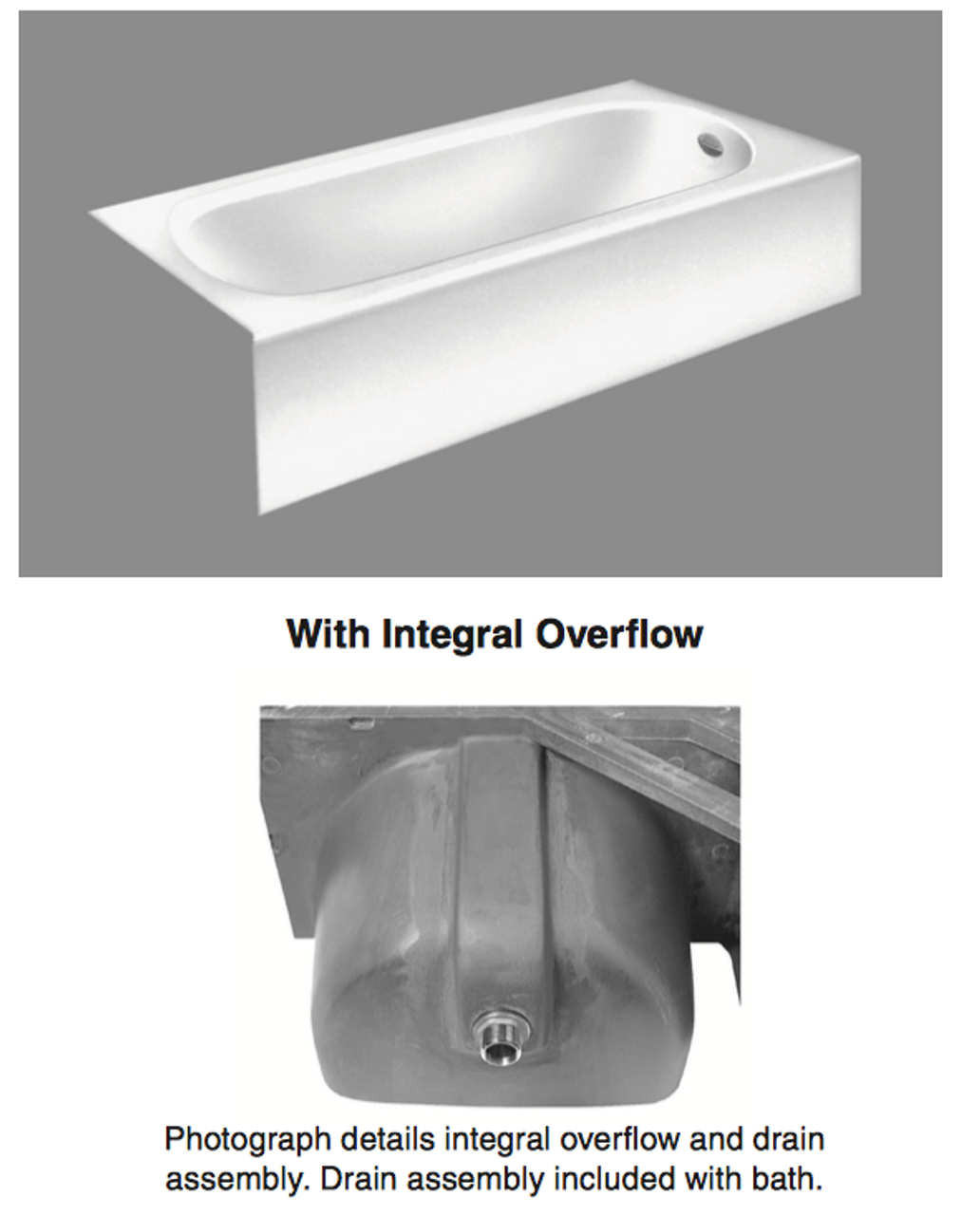 American Standard Princeton 60 Inch By 30 Inch Integral Apron Bathtub Above Floor Rough In Royal Bath Place