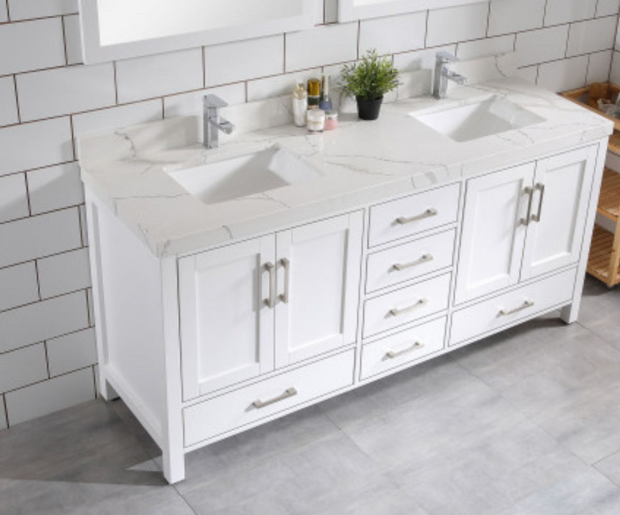 Palmera 65 White Double Sink Bathroom Vanity Royal Bath Place