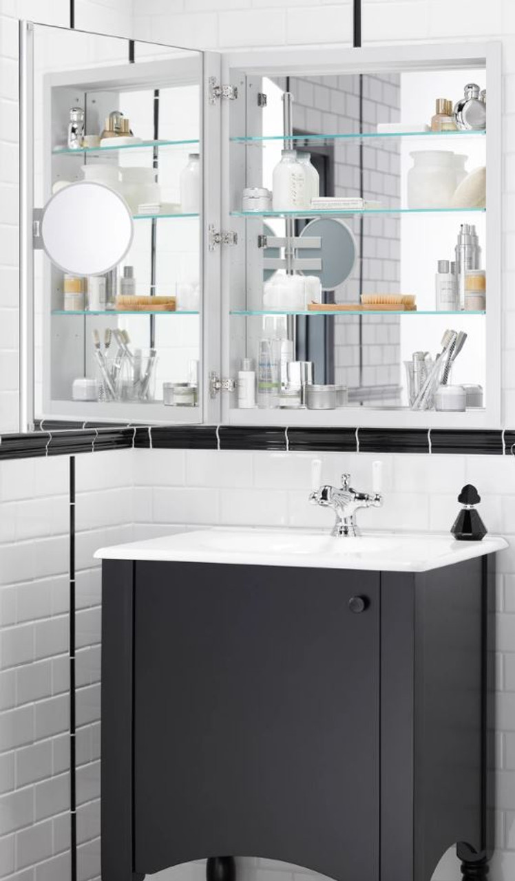 Picture of: Kohler Verdera Collection 24 X 30 Mirrored Medicine Cabinet With Adjustable Magnifying Mirror And Slow Close Door Royal Bath Place