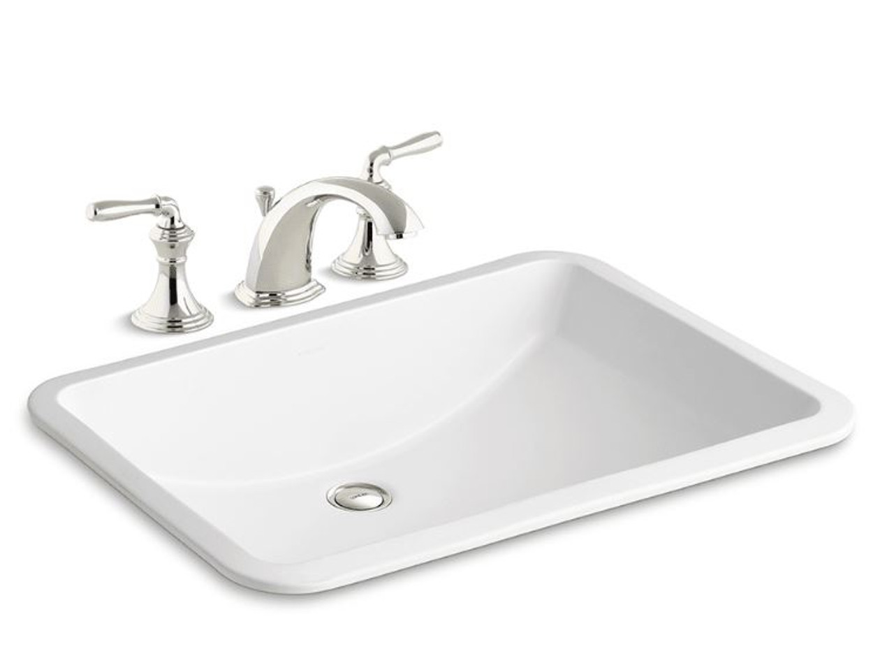 Kohler Ladena 18 3 8 Undermount Bathroom Sink With Overflow And Devonshire Widespread Bathroom Faucet With Pop Up Drain Assembly Royal Bath Place