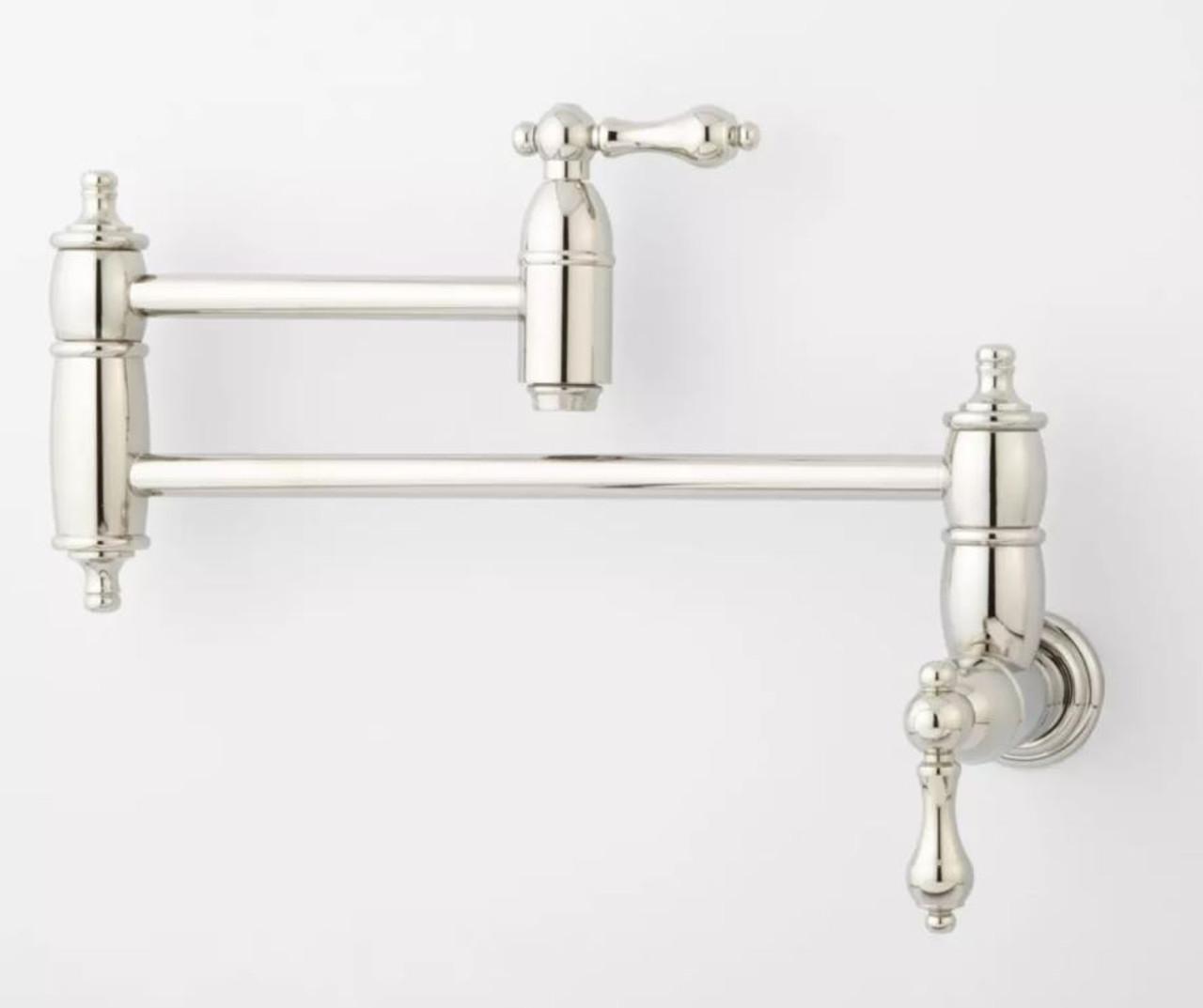 Signature Hardware 948580 Rigi 1.2 GPM 1 Hole Bathroom Faucet Nickel
